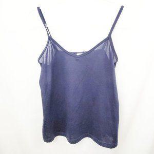 VTG Navy Blue Cropped Basic Camisole EUC
